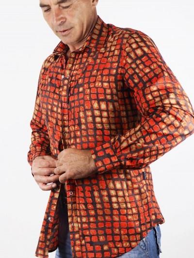Shirt Bunte Fliesen Vintage...