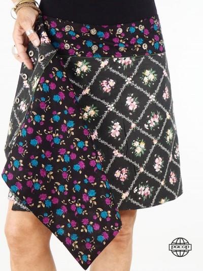 "Skirt ""Midi"" Black Cotton..."