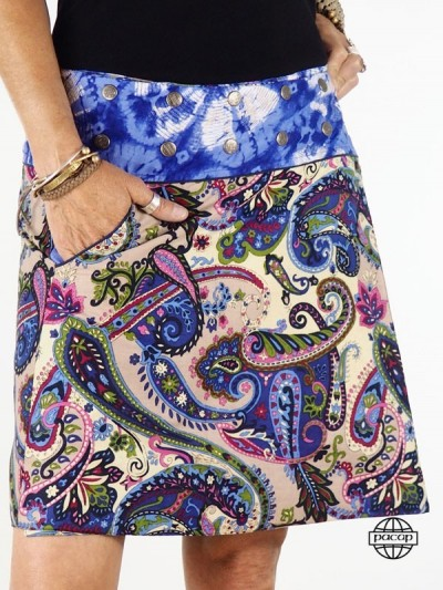 """Blue Skirt """"Mi-Long""""..."""