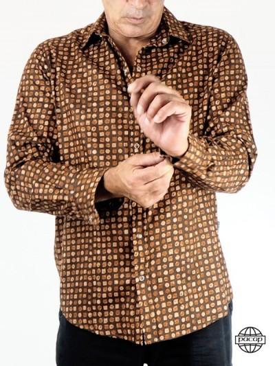 Chocolate Shirt Button...