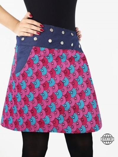 """Split Skirt in Denim """"3..."""