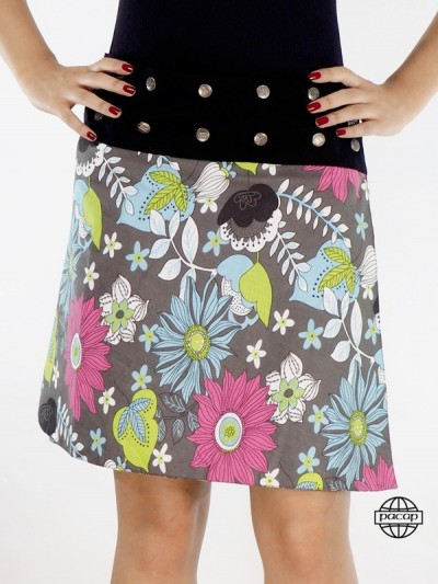 "Skirt ""Midi"" Cotton Printed..."