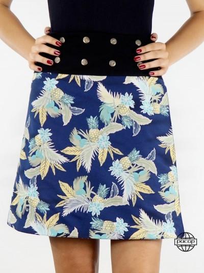 Straight Cut Skirt Tropical...