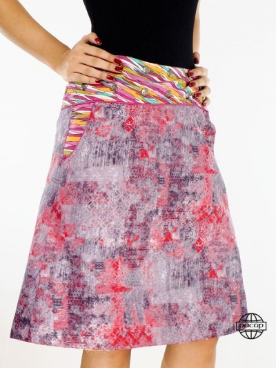 Skirt Size Printed Pockets...