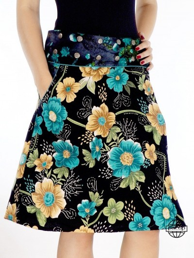 Skirt Wallet Pockets Floral...