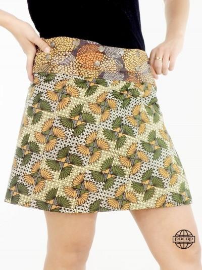 Summer Skirt Belt Button...