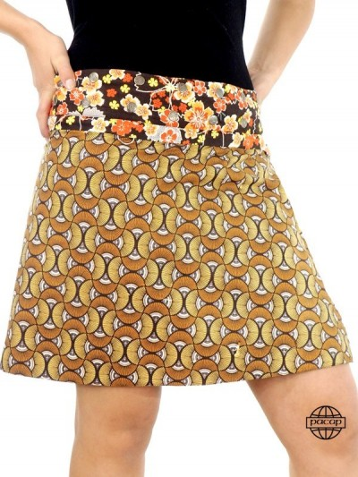 Snap Button Skirt Zip - 3...