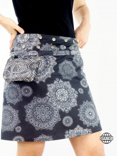 Pocket Skirt Black and...