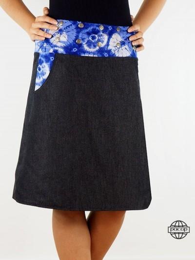 """Skirt """"Long"""" Jeans Black..."""