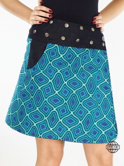 Jean Skirt Black Size Blue...