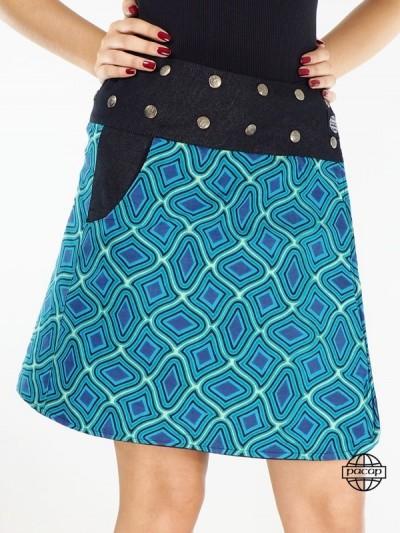Jean Skirt Black Size Blue...