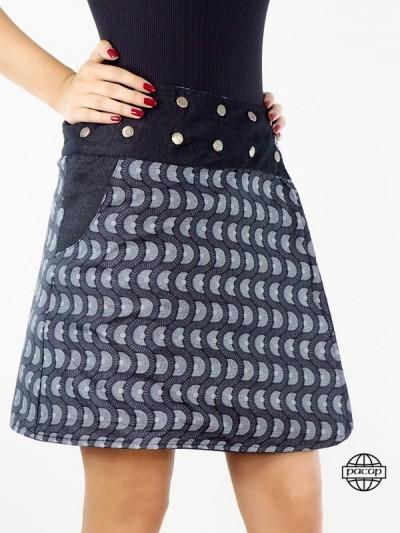 Jean Skirt Woman Reversible...