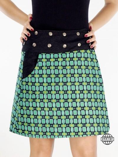 Trend Jean Skirt Printed...
