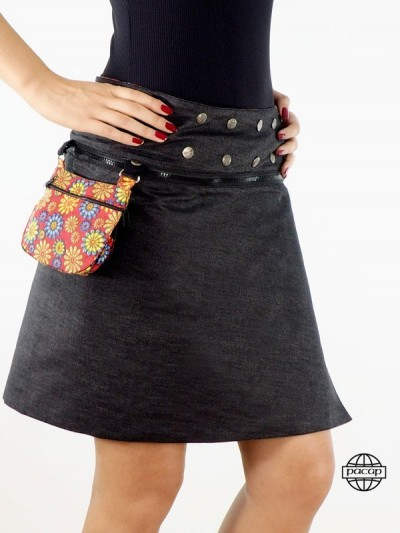 "Skirt ""Mid-Long"" Black..."