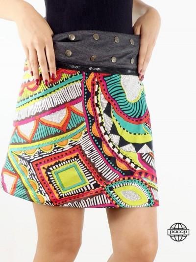 Black Skirt Jeans Kneeling...