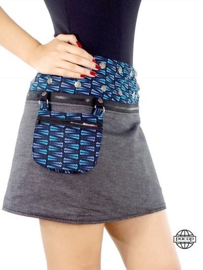 """""""Minirock"""" Black Zip Wallet..."""