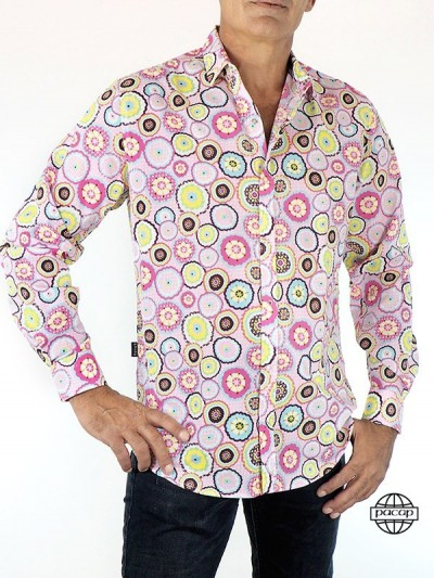 Men's Shirt Fancy Pink and...