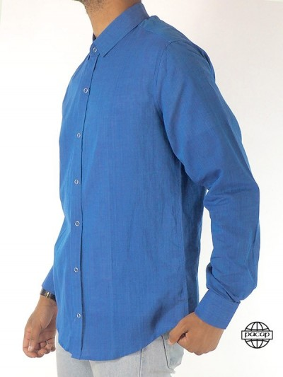 Man Dressed Blue Shirt...
