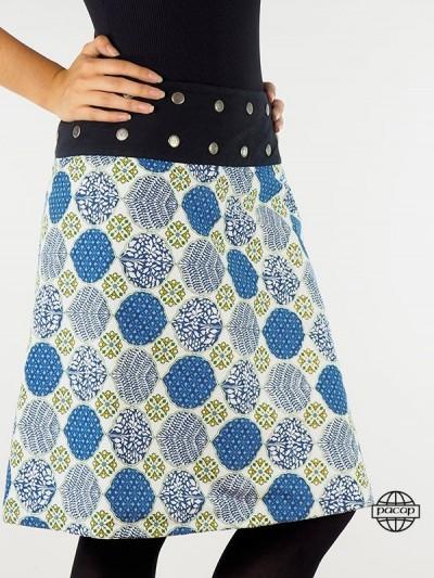 """Skirt """"Long"""" Blue Velvet..."""