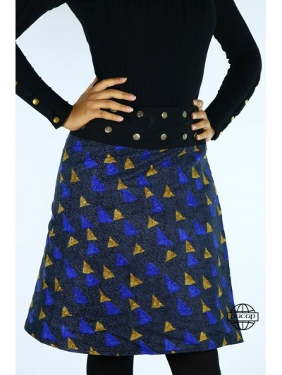 Jupe Hiver Bleue Taille...