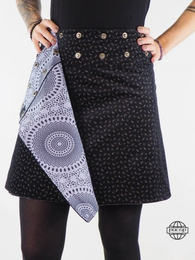 Suede Skirt Reversible Cup...