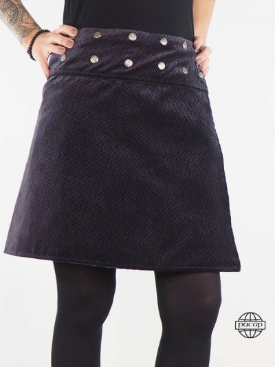"Skirt ""Average"" Black Suede..."