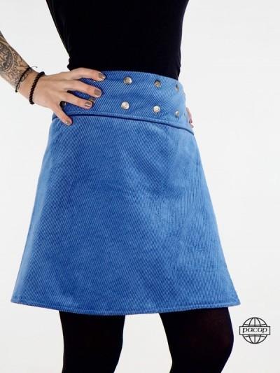"Jupe ""Midi"" Bleue..."