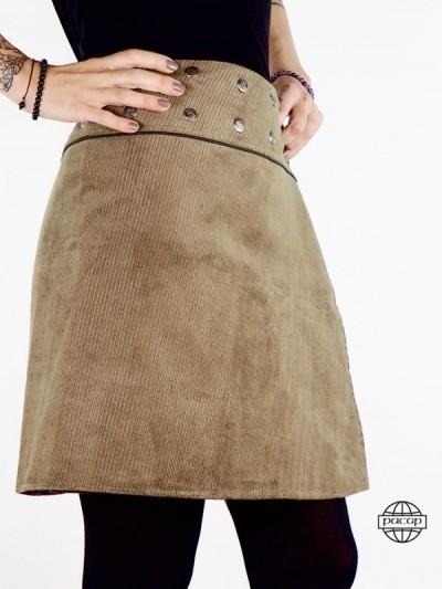 "Skirt Woman ""Midi"" Brown..."