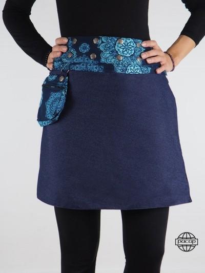 Skirt Blue Belt Reversible...