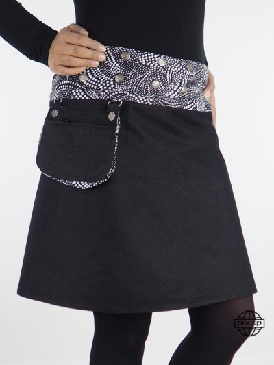 Reversible Jean Skirt Black...