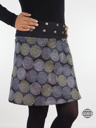 Skirt Reversible Jean Black...