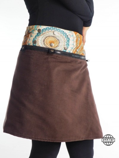 "Skirt ""Midi"" Brown Female..."