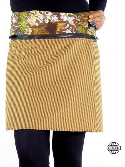 "Skirt ""Midi"" Zip Reversible..."