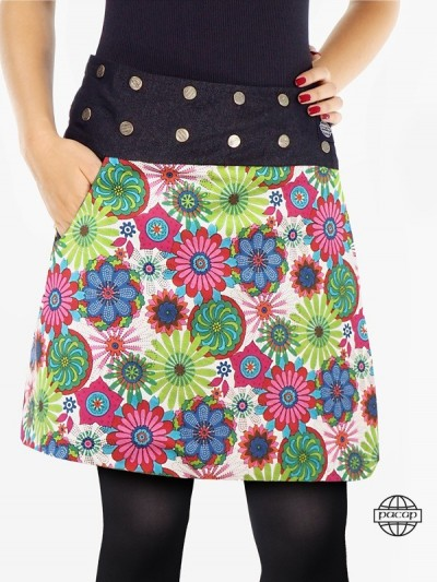 Trapeze Skirt Reversible...