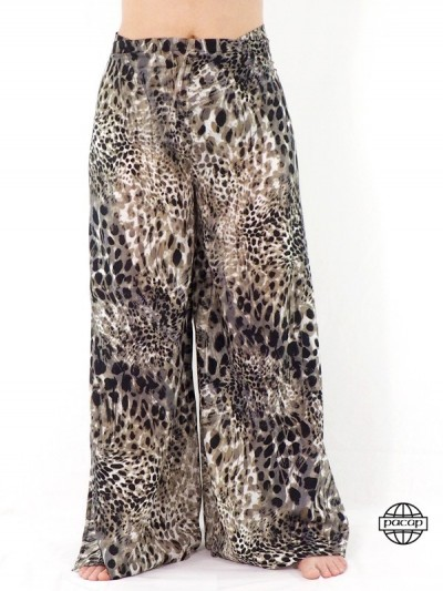 pantalon  portefeuille imprimé animal leopard