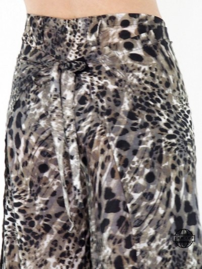 Leopard Pants Size and Wide...