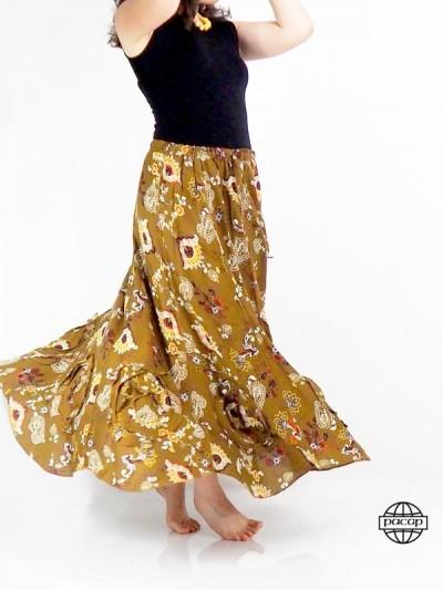 Skirt Long Volantée Marron...