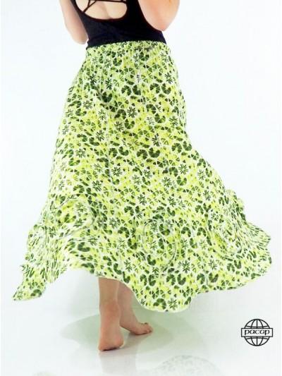 Skirt Longue Verte Volante...