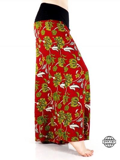 Pantalon Rouge Fleurie...