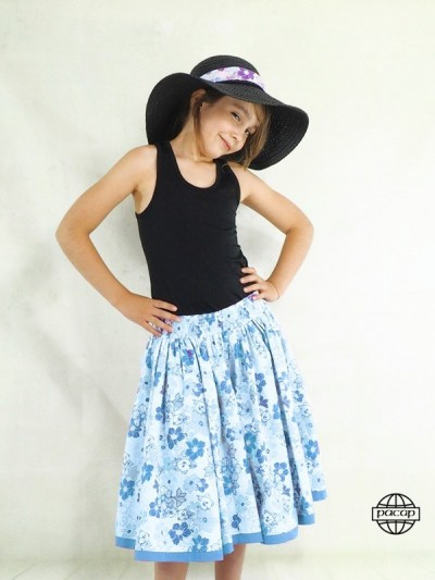 Skirt Long Hawaiian Blue...