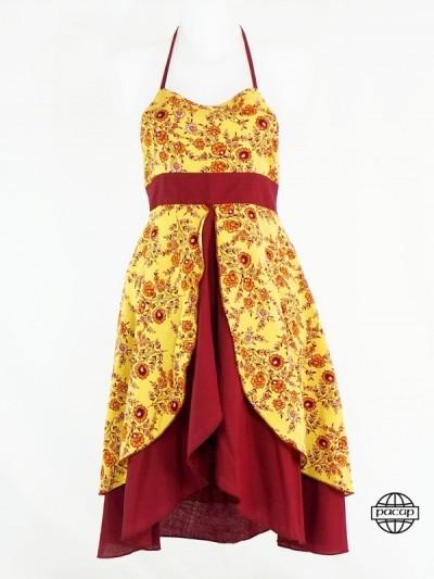 Robe Princesse Longue Jaune...