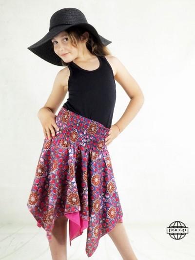 Skirt Asymetrical Girl Red...