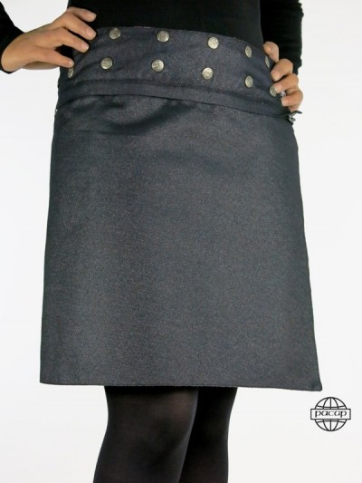 Skirt Belt Zip Amovible...