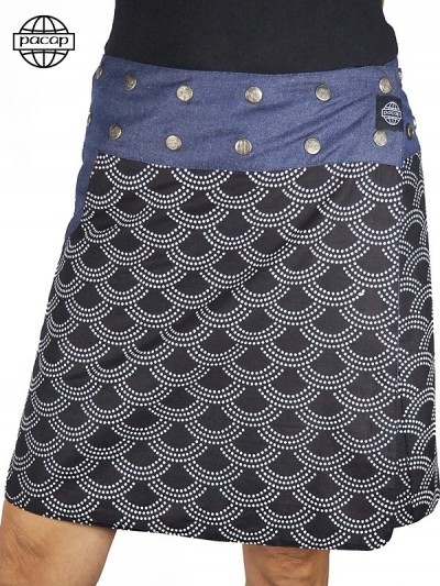 Skirt Fendue in Jean...
