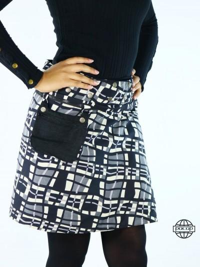 Zip skirt Large Size...