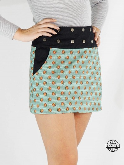 Skirt Buttons in Jean with...