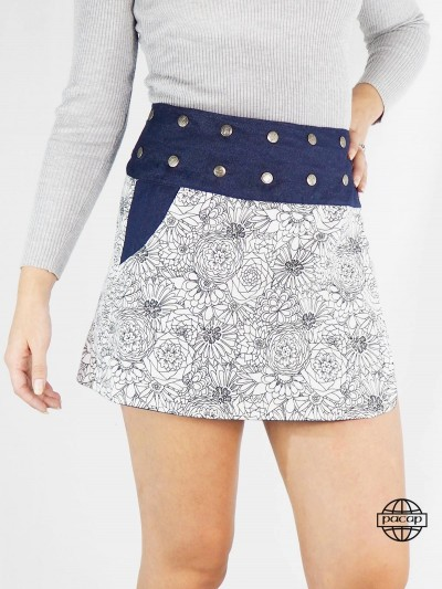 White skirt in Jean Woman...