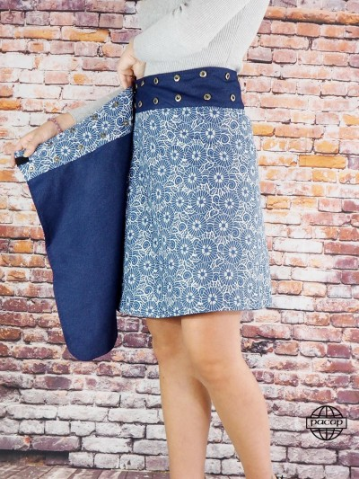 Skirt Right in Jean-TIEFA