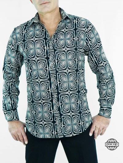 Black Shirt Vintage Homme...