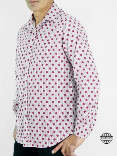 Shirt Oxford in Pois...
